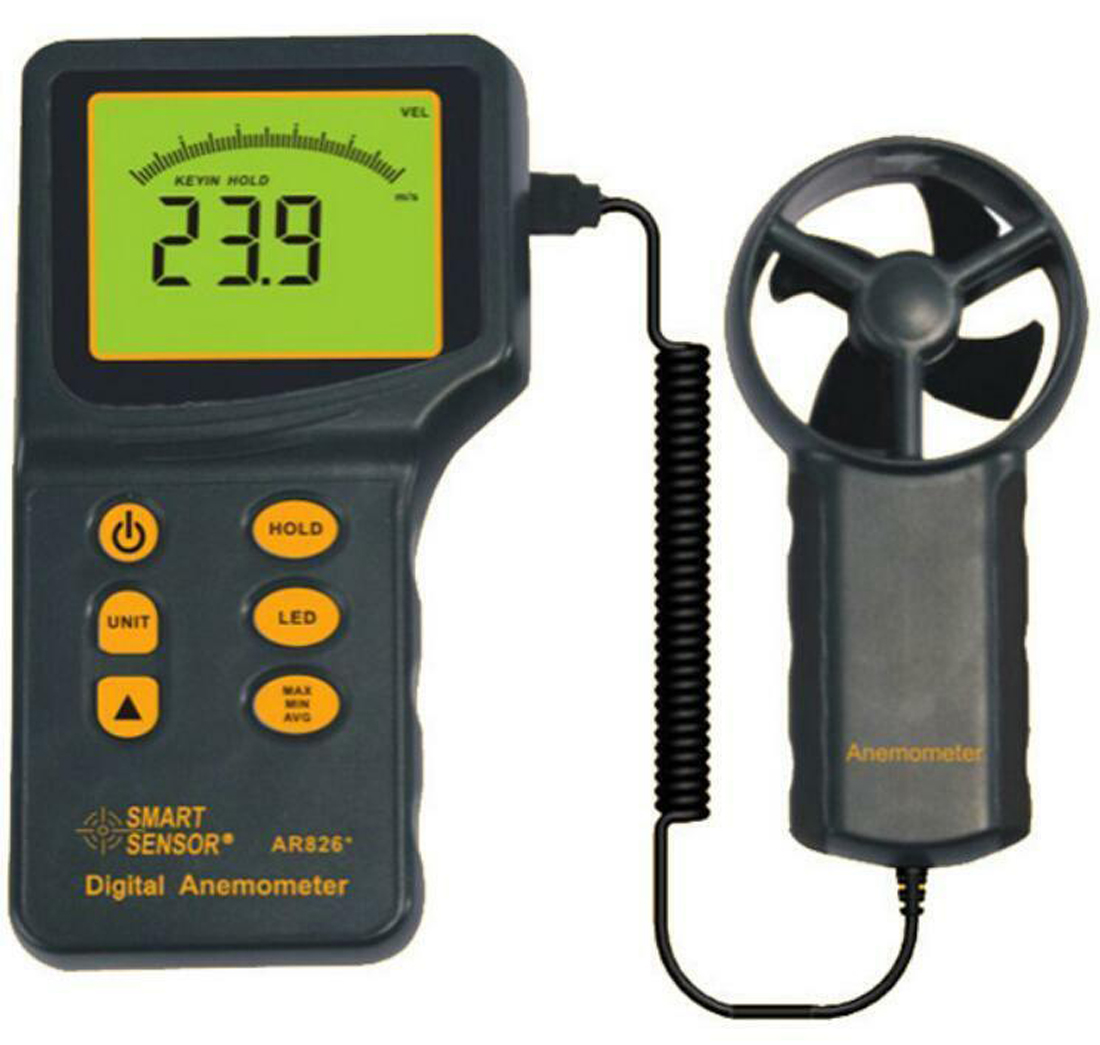 Digital Airflow Anemometer Wind Speed Meter AR826+ Wind Speed Measuring Range 0.3~45m/sDigital Airflow Anemometer Wind Speed Meter AR826+ Wind Speed Measuring Range 0.3~45m/s