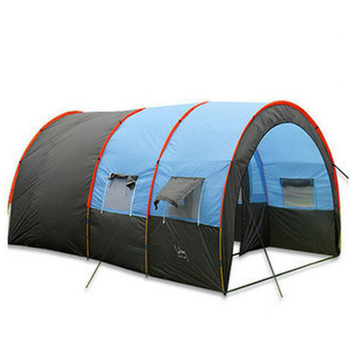 Large Camping Tent Waterproof Canvas Fiberglass 8 10 Person Tunnel Tent Outdoor Party Family Tents Outdoor Camping Picnic large camping tent 5 8 person garden tent double layer three doors outdoor tents for family camping travel 330 380 195cm