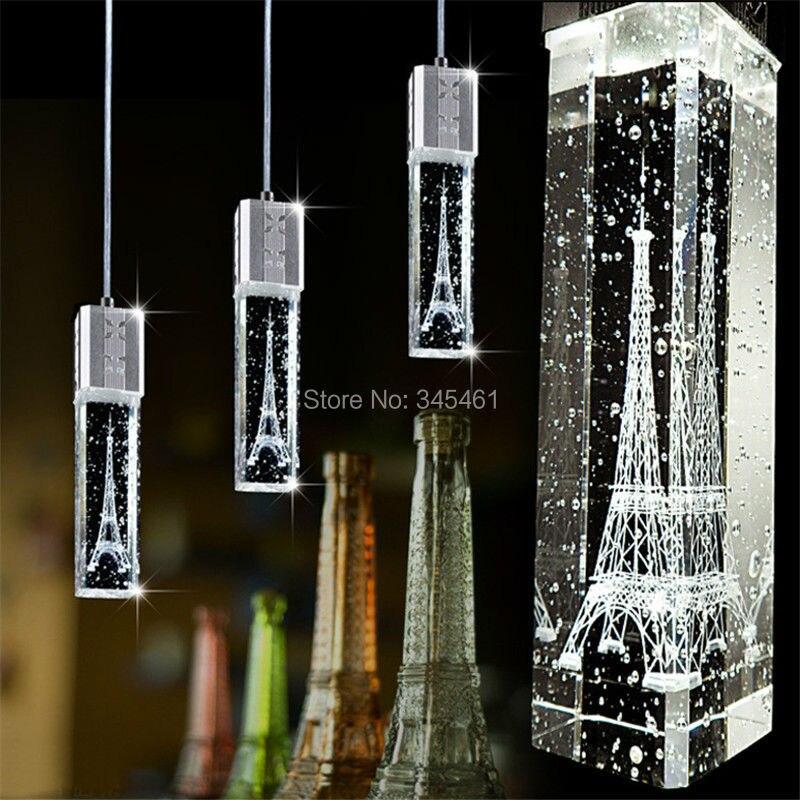 3pcs lot kitchen pendant lighting lamps fashion crystal. Black Bedroom Furniture Sets. Home Design Ideas