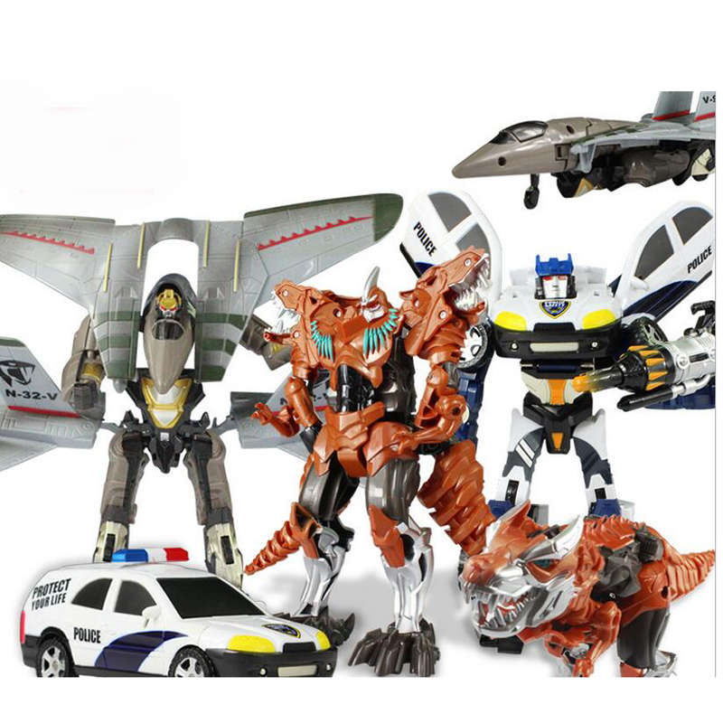 1 Piece Mini Deformation Car Truck Triad Robot Boy Action Figure Toys For Children Plastic Flexible Joints Vehicle Favorite Gift dinosaur transformation plastic robot car action figure fighting vehicle with sound and led light toy model gifts for boy