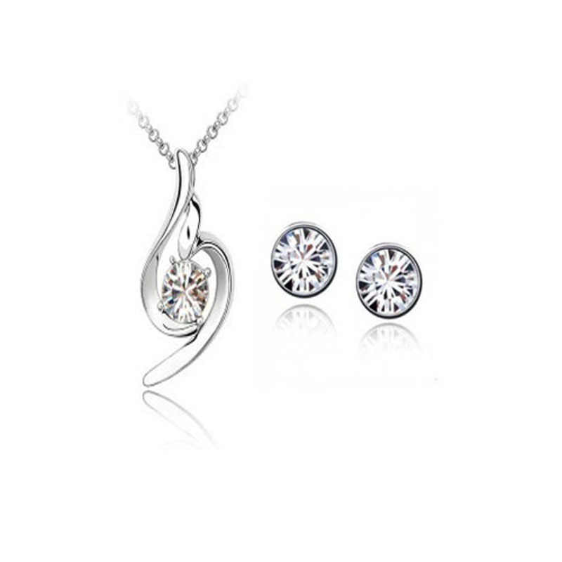 Fashion jewelry necklaces pendants earrings + necklace Chinese supplier sets / 011005