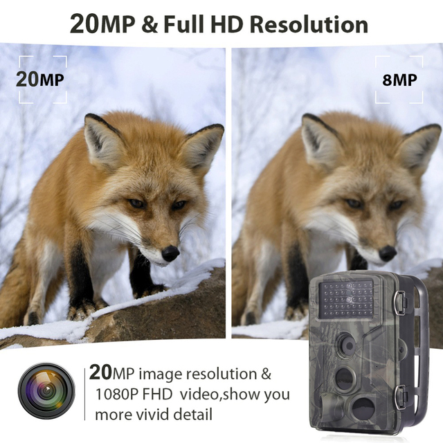 20MP 1080P Wildlife Trail Camera Photo Trap Infrared Hunting Cameras HC802A Wildlife Wireless Surveillance Tracking Cams 2