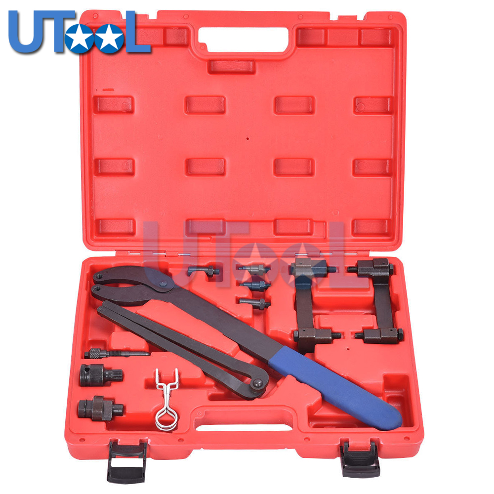 UTOOL Engine Camshaft Crankshaft Locking Alignment Timing Tool Kit For Audi A2 A3 A4 A6 A8 2.4/3.2L V6 FSI T40070 T40069 T10172 цены