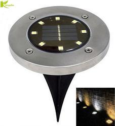 Солнечный грунтовый светильник на открытом воздухе водонепроницаемая садовая дорожка настенная лампа с 8 светодиодами Солнечная лампа