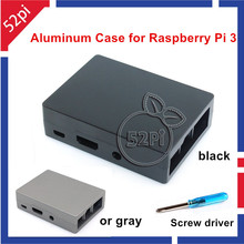 Raspberry Pi 3 Model B Metal aluminum enclosure Black/Gray Case with heat sink stick