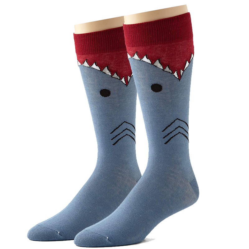 1 Pair Of Men's Women's Cotton Socks Combed Cartoon Animal Bird Shark Zebra Corn Watermelon Crew Geometric Novelty Fun Socks