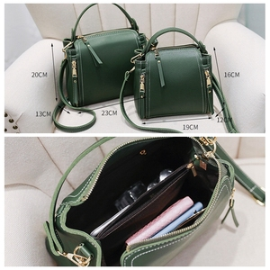 Image 4 - Small Mini Bucket Women Messenger Bags With Long Strap Designer Crossbody Bags Green Shoulder Bags Female Fashion Korean 2018