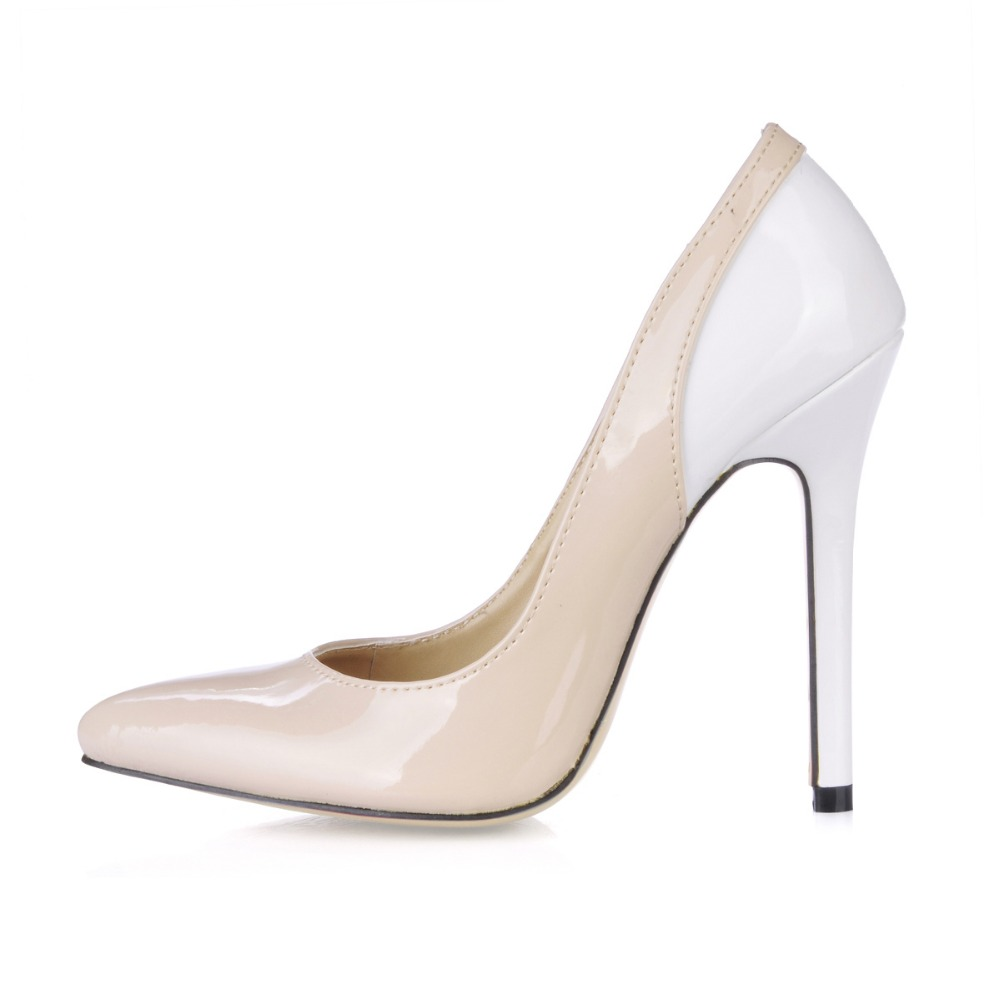 Brand New Hot Sexy White Pink Patchwork Stiletto High Heels Women Nude Glossy Pumps Ladies Formal Shoes Patent Leather Fashion 100sheets lot new a4 size white blank glossy