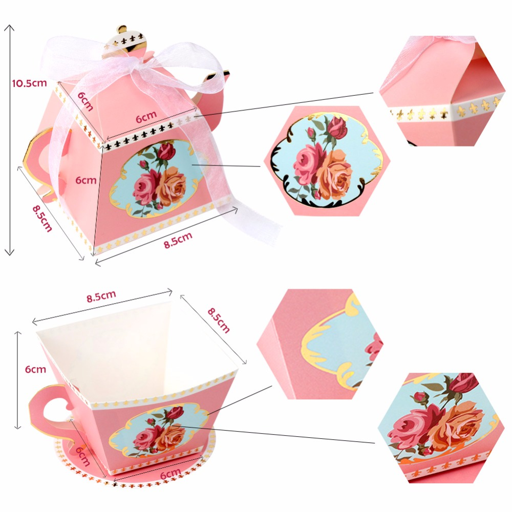 OurWarm 10Pcs Candy Boxes Tea Party Favors Wedding Gifts for Guests ...