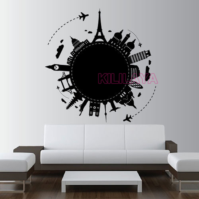 World Map Country Paris Rome Vinyl Wall Art Home Decor Wall Stickers Wall Decals Wallpaper for & World Map Country Paris Rome Vinyl Wall Art Home Decor Wall Stickers ...