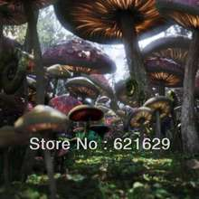 Fantasy mushrooms 8'x8′ CP Computer-painted Scenic Photography Background Photo Studio Backdrop ZJZ-586