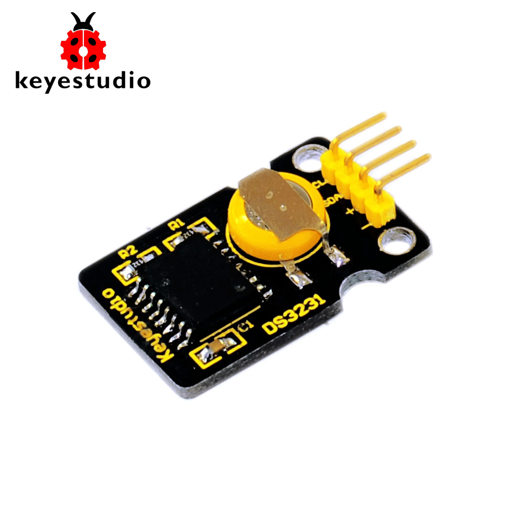 Free Shipping! Keyestudio DS3231 High Precision I2C Real Time Clock Module For Arduino