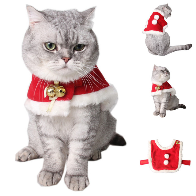 Christmas Cat Clothes Pet Kitthen Clothing Wind Cloak Xmas Pet Outfits  Small Dog Cat Costume Apparel - Christmas Cat Clothes Pet Kitthen Clothing Wind Cloak Xmas Pet