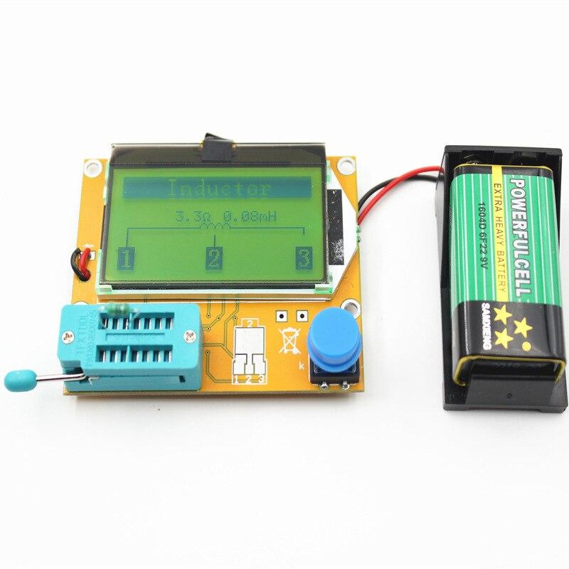 LCR-T4 Mega328 M328 Multimeter Transistor Tester Backlight ESR Meter Diode Triode Capacitance ESR Meter MOS PNP NPN LCR
