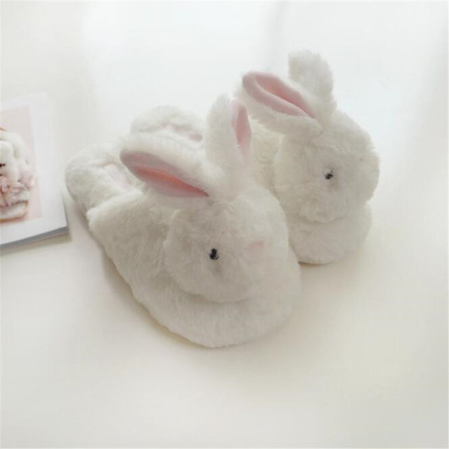 Пушистые тапочки кролик 1