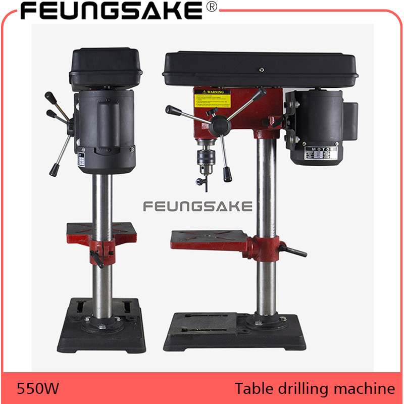 цена 220V AC 550W Rotary Pillar Drill Drilling Press Bench Machine Table Drilling Chuck 3-16mm For Wood Metal Electrical Tools