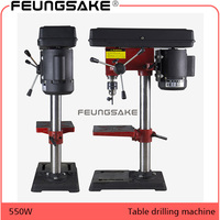 220V AC 550W Rotary Pillar Drill Drilling Press Bench Machine Table Drilling Chuck 3 16mm For Wood Metal Electrical Tools
