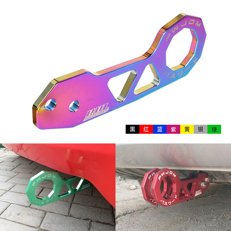 JDM Stil Racing Hinten Tow Haken Aluminium Legierung hinten tow haken für honda civic fit jazz gk5