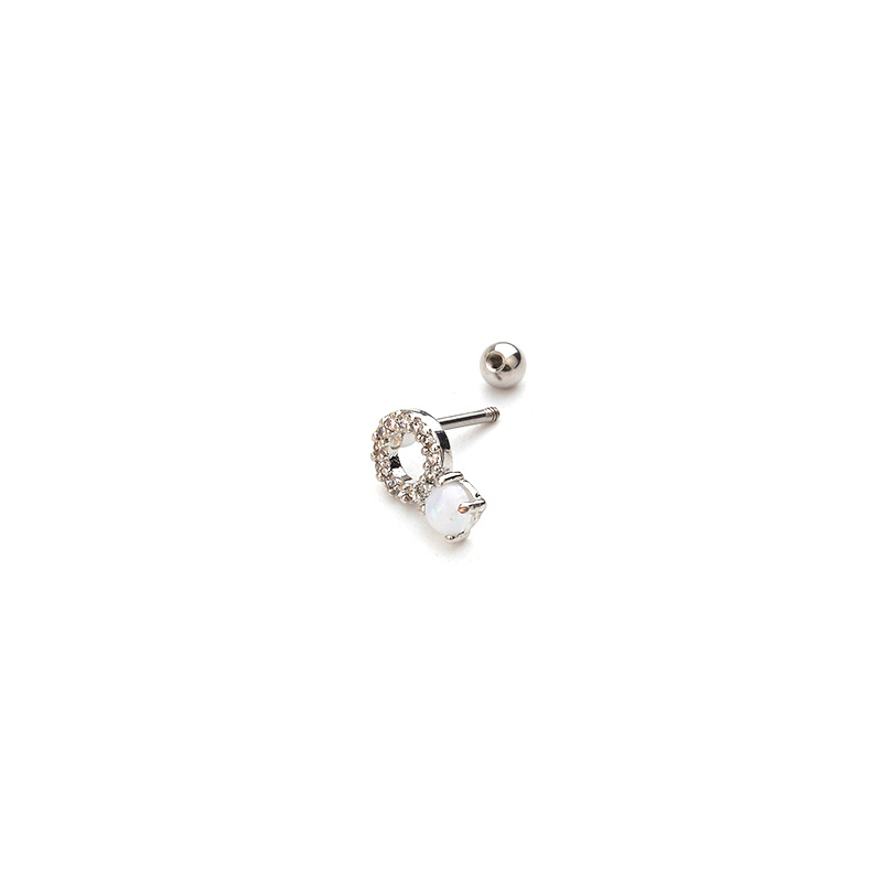 Feelgood Ear Piercing Jewelry 1PC 20g Stainless steel bar and Cz Cartilage Helix Tragus Conch Rook Lobe Screw Back Earring Stud