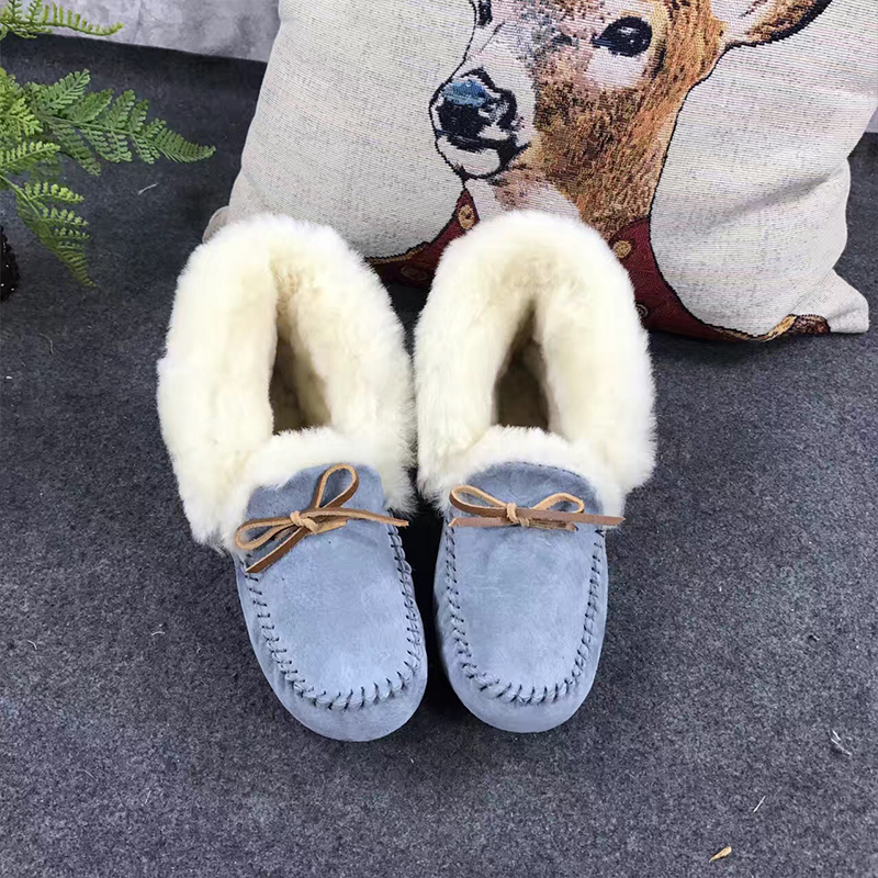 GXLLD Elegant Lady Warm Shoes Fur One Warm Comfort Non-slip Simple Butterfly Knot Pattern Glamour Fashion Luxury Brand Shoes
