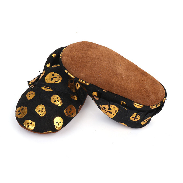 GENUINE LEATER SKULL BABY SHOES