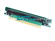 1pcs/lot 90 degree PCI Express 16x Riser Card Male to Female Right Angle PCI-E x16 to 16x slot protect Adapter 1U PC Server Case цена