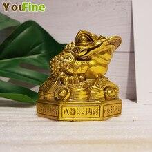 Bronze gold enamel ornaments Three-legged home Feng Shui Wang Cai shop opening gifts crafts