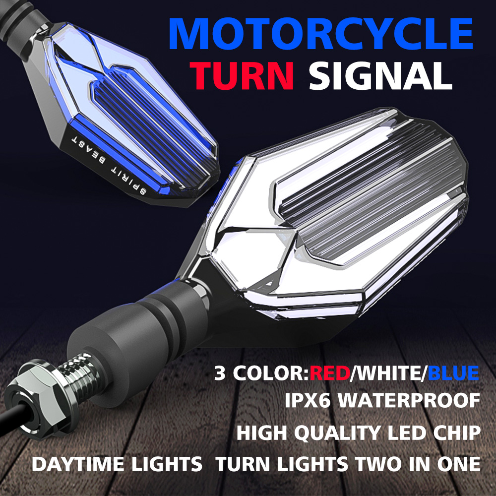 SPIRIT BEAST Motorcycle Turn Signal Flasher LED Light For Honda Shadow 750 Yamaha Ybr 125 Harley Davidsion Cbr650f Bmw F800r KTM