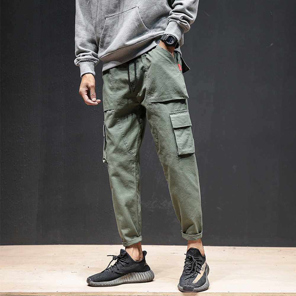 MASCUBE 2019 Spring Autumn New Men's Cotton Casual Pants Japanese Multi-pocket Pants Men Tactical Cargo Pants Joggers Trousers