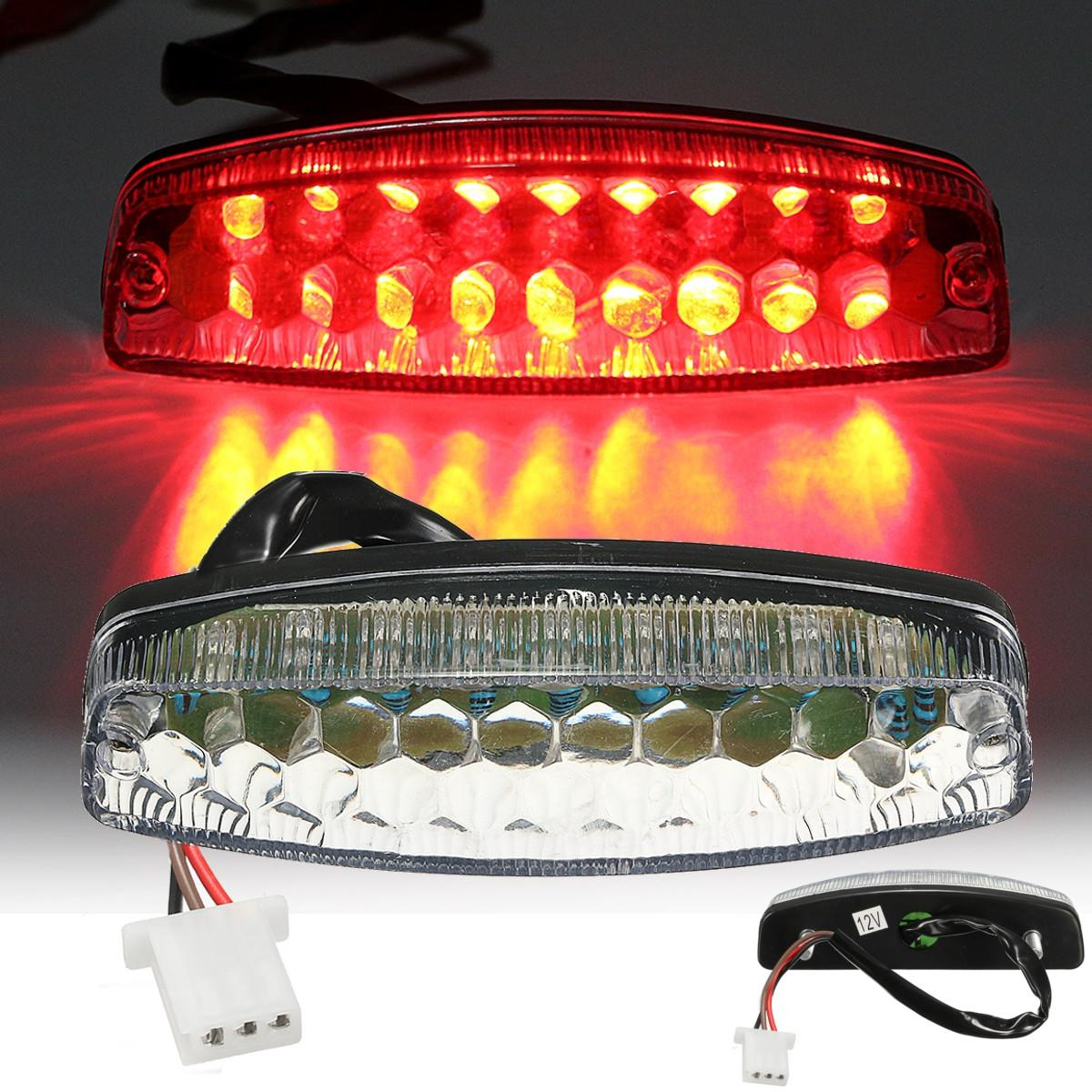 Motorbike Red LED Rear Tail Brake Light For 50 70 110 125cc ATV Quad Kart TaoTao Sunl Chinese Motorcycle Light