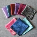 9 Colores de Moda Square Pocket Pañuelo Pañuelos de Bolsillo de Seda Hombres Paisley Paisley de Seda Hombres de La Boda de Bolsillo Cuadrado 24*24 cm