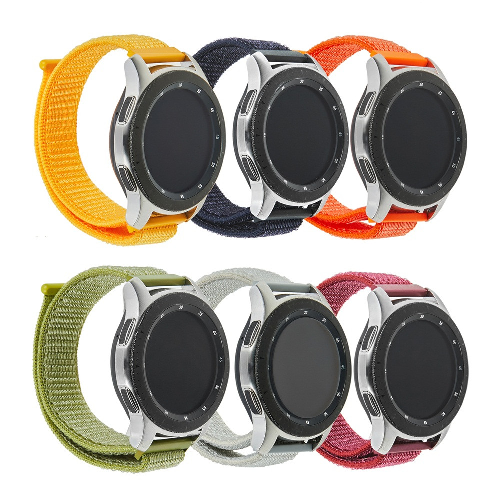 Nylon weave Band Wrist Strap 22mm For Samsung Galaxy watch 46mm/gear S3/ Gear2 gear s3 frontier nato strap Sport Wristband nato 22mm 20mm nylon sport strap for samsung gear s3 classic s3 frontier gear s2 gear sport galaxy watch 46mm 42mm watch band