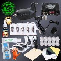 Professional Tattoo Rotary Tattoo Kit Machine Mini Power Needles Brand Inks Set Tattoo Supplies