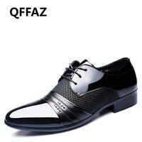 QFFAZ 2018 Men Wedding Dress Shoes Oxford Shoes Formal Office Business Lace Up Men S Footwear