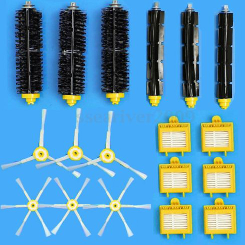 HEPA Filter+Side Brush Kit+Bristle and Flexible Beater Brush suitable for iRobot Roomba 700 Series 770 780 790 Cleaner Accessory 16pc a lot hepa filter side brush kit bristle and flexible beater brush suitable for irobot roomba vacuum parts 700 760 770 780