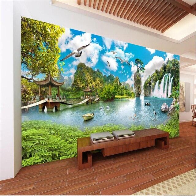 Beibehang Große Eigene Tapete Wandbild China Wind Landschaft Super ...