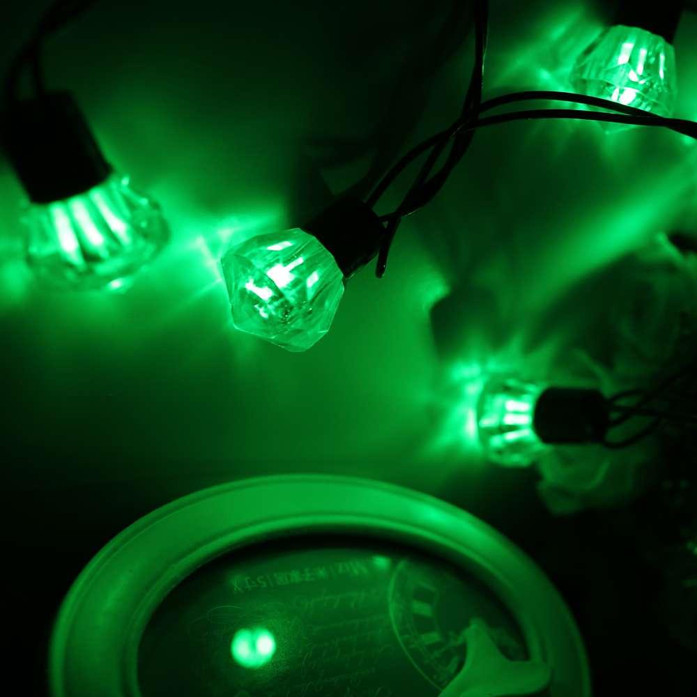 RGB 220V EU Plug Diamond String Lights 5M 20 LED Waterproof Colorful ...