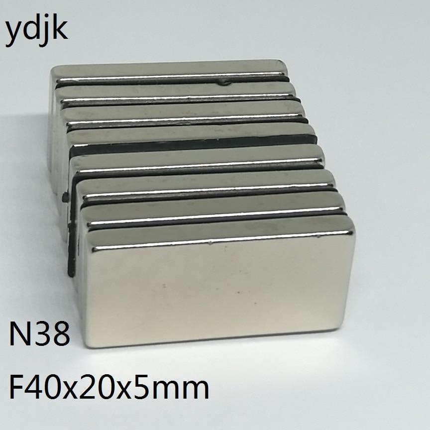 50pcs lot N38 Rectangular magnet 40x20x5 mm Neodymium magnet 40 20 5 mm NdFeB magnet 40mm
