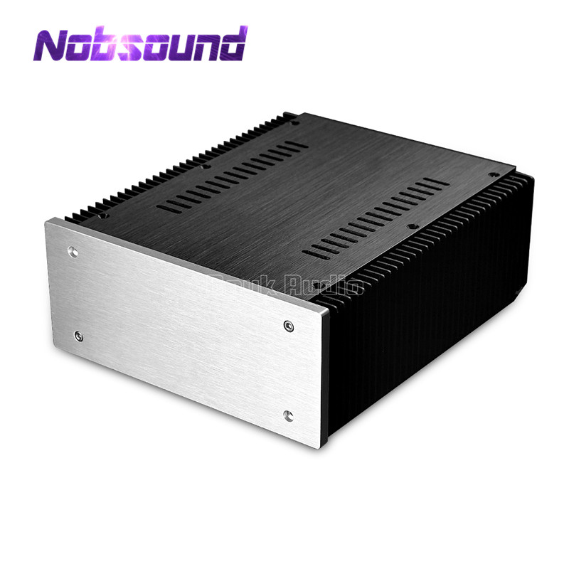 Nobsound DIY Aluminum Enclosure DAC Case Cabinet Amplifier Chassis New (W211*H90*D257mm) nobsound high end aluminum chassis power amplifier case audio diy cabinet silver black