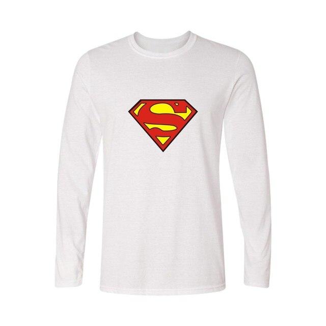 Мода логотип Супермена футболка Для мужчин с длинным рукавом осень и Для  мужчин футболка красочные Футболка 28c106f63c558