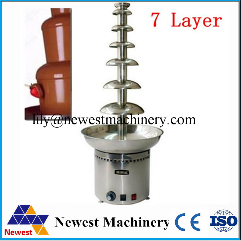 commercial chocolate fountain machine waterfall machine 7 layers of chocolate fondue fountain. Black Bedroom Furniture Sets. Home Design Ideas