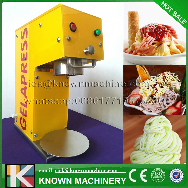 KN-005 Ice cream noddle making machine/5 moulds gelato maker italian noodle soft ice cream machine with free shippingKN-005 Ice cream noddle making machine/5 moulds gelato maker italian noodle soft ice cream machine with free shipping