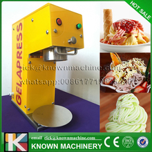 KN-005 Ice cream noddle making machine/5 moulds gelato maker italian noodle soft ice cream machine with free shipping