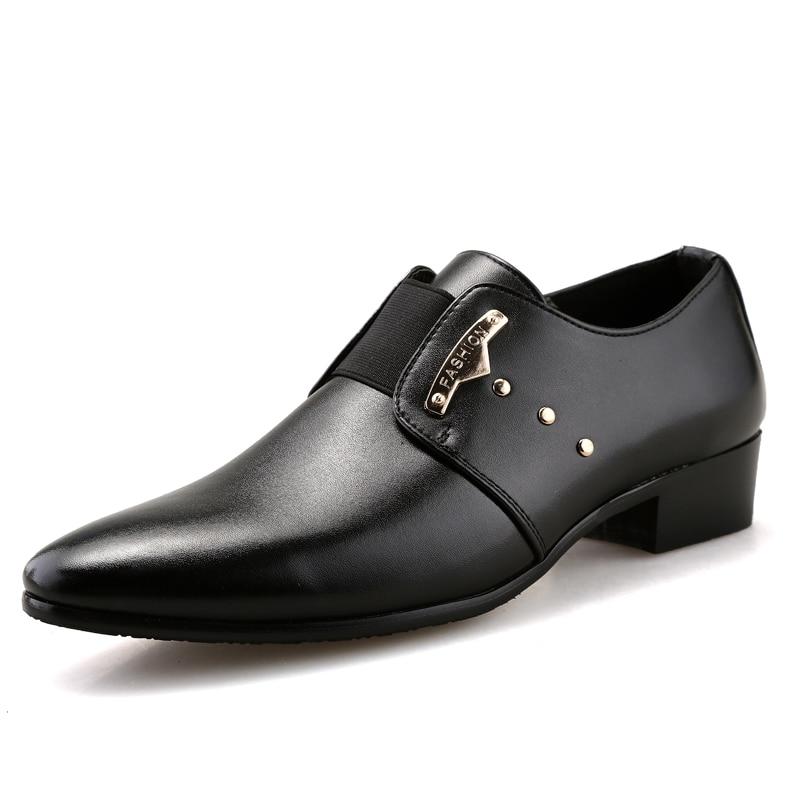 JUNJARM Men Formal Shoes Mens Slip On