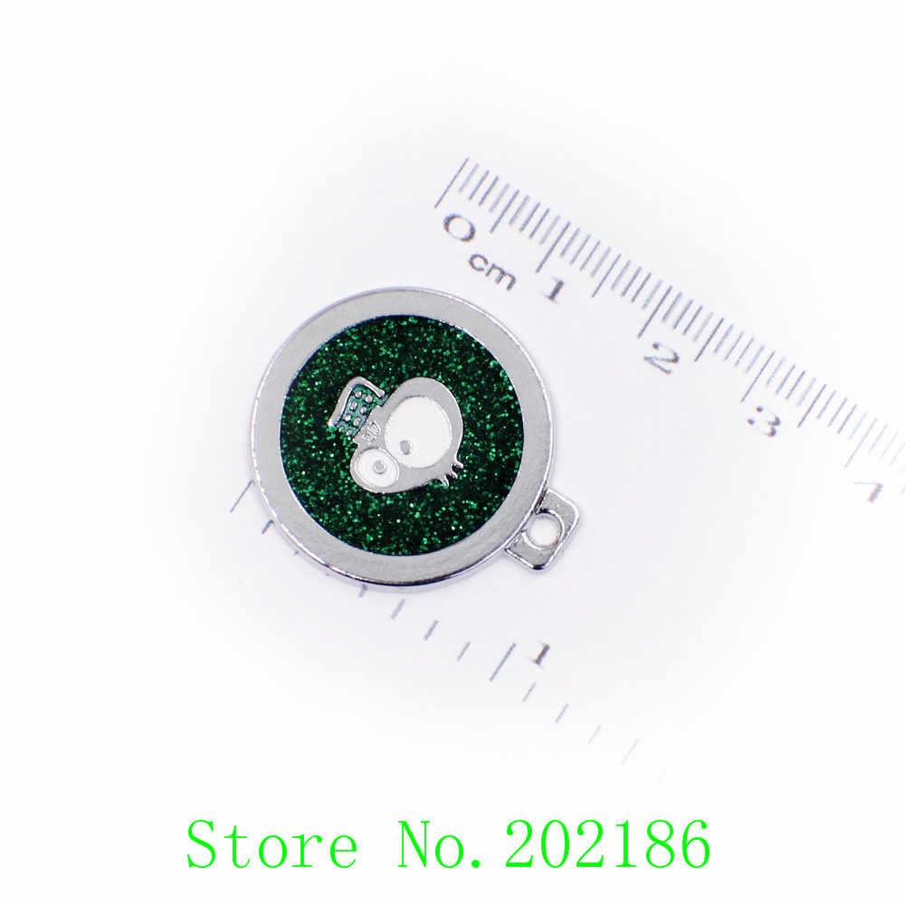 1pc mélange couleur chien bling pendentif pendentif ajustement bricolage porte-clés porte-clés fabrication de bijoux sur Dia. 25mm HC383 nouveaux Styles