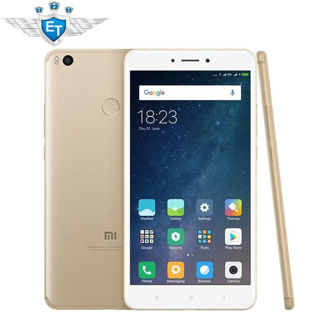 "Оригинал Сяо Mi Max 2 6.44 ""мобильный телефон 4 ГБ Оперативная память 128 ГБ SNA P Дракон 625 Octa core 1080 P 12.0MP IMX386 QC3.0 OTG 5300 мАч"