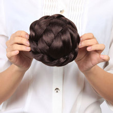 HiDoLA Braided Hair Chignon Bun Donut Clip In Synthetic Extensions Wedding