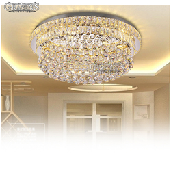 Nowoczesny kryształowy żyrandol światła oprawa luksusowe oświetlenie lampy LED do salonu Hotel okrągły lampora de techo restauracja|Żyrandole|   -