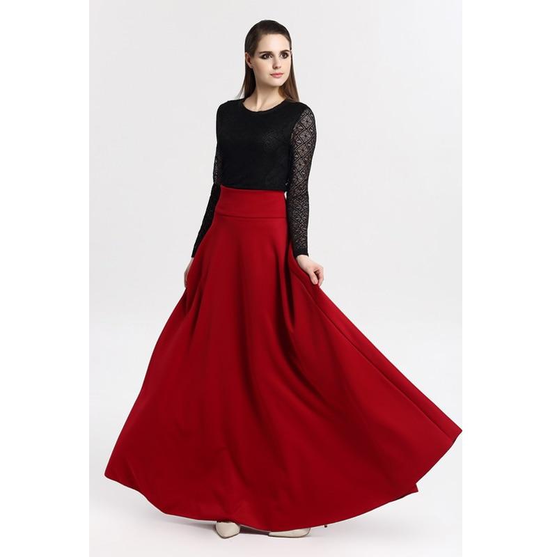 vintage high waist pleated skirt 2016 autumn
