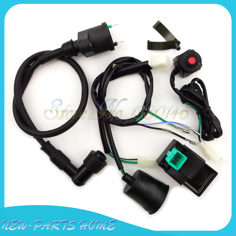 Wiring Loom Harness Kill Switch Ignition Coil CDI For Pit Dirt Bike 50cc-160cc